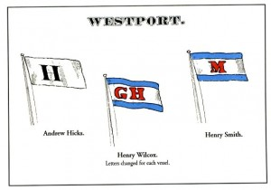 Postcard Wesport House Flags