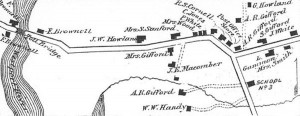 1871 inset map of South Westport, MA (source: Beers 1871).
