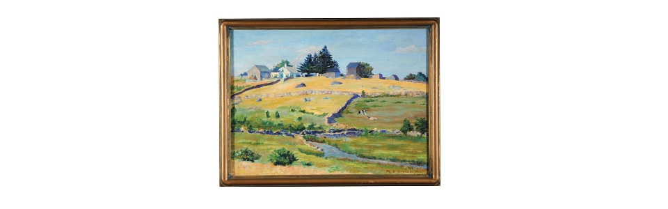 Hillside Farm Painting