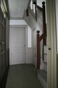irst floor, lobby entry. Aside form paint finishes, the space appears essentially as it did when it was originally constructed in the mid-18th century.