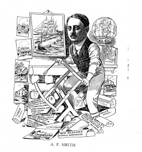 Cartoon illustrating Abbott Smith's industrial and business interests