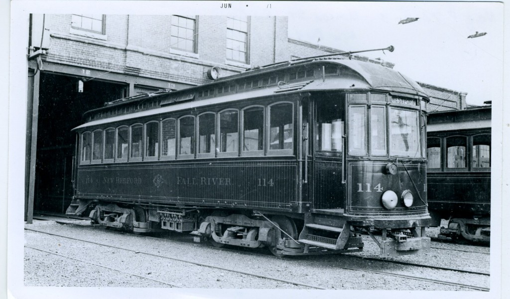New Bedford - Fall River trolley, heading for Westport. c. 1905
