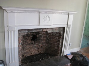 opening in fireplace